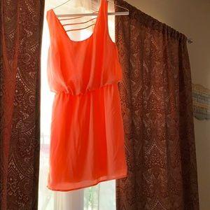 Bright pink junior dress